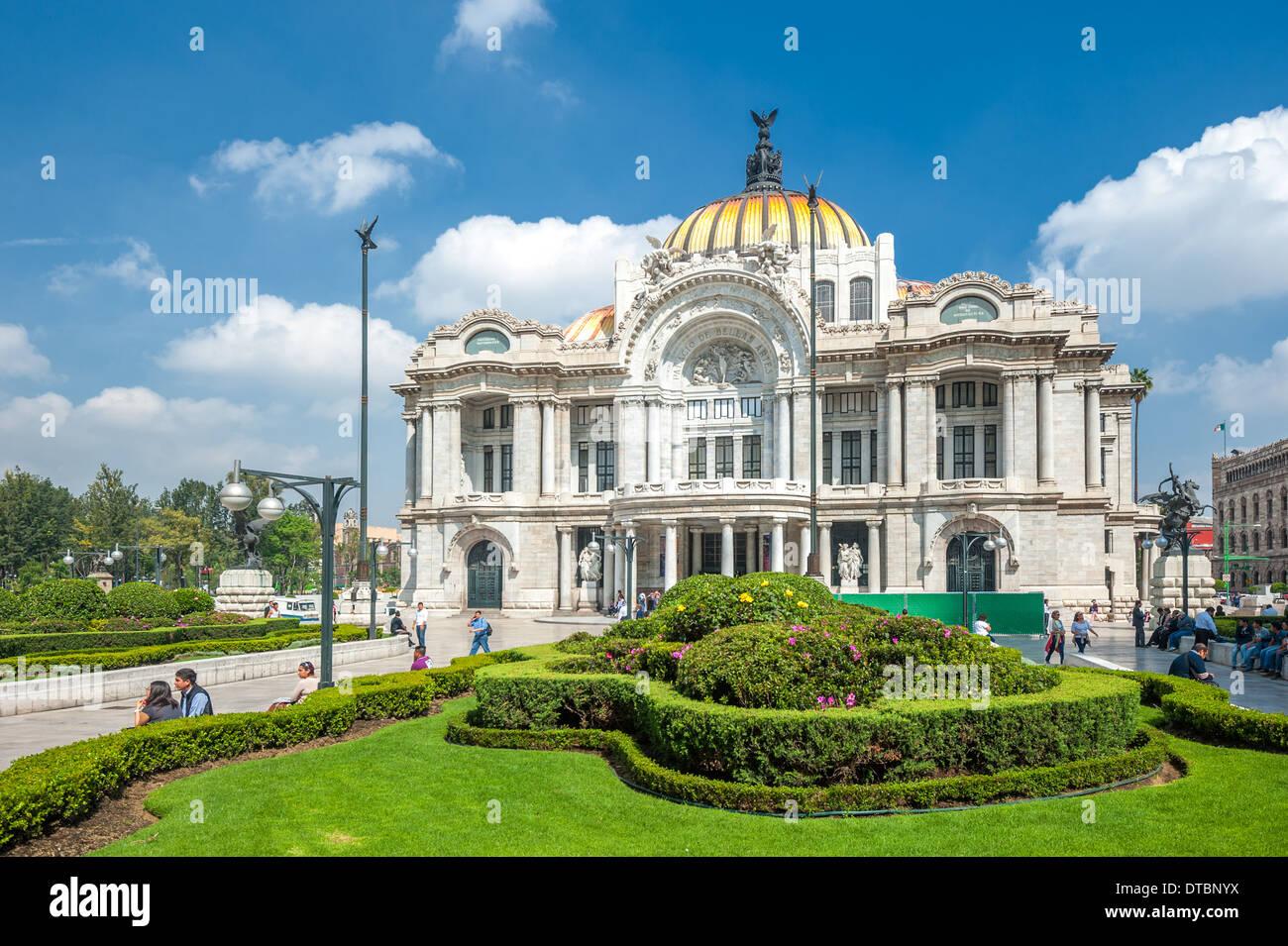 Palacio de Bellas Artes, Mexico city - Stock Image