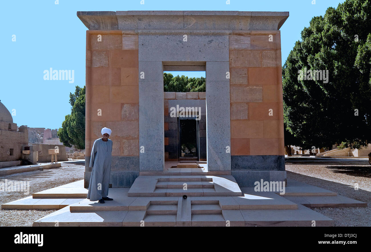 Restored Chapel Rouge or Red Chapel of Queen Hatshepsut at Open Air Museum on East Bank at Karnak Temple Luxor Stock Photo