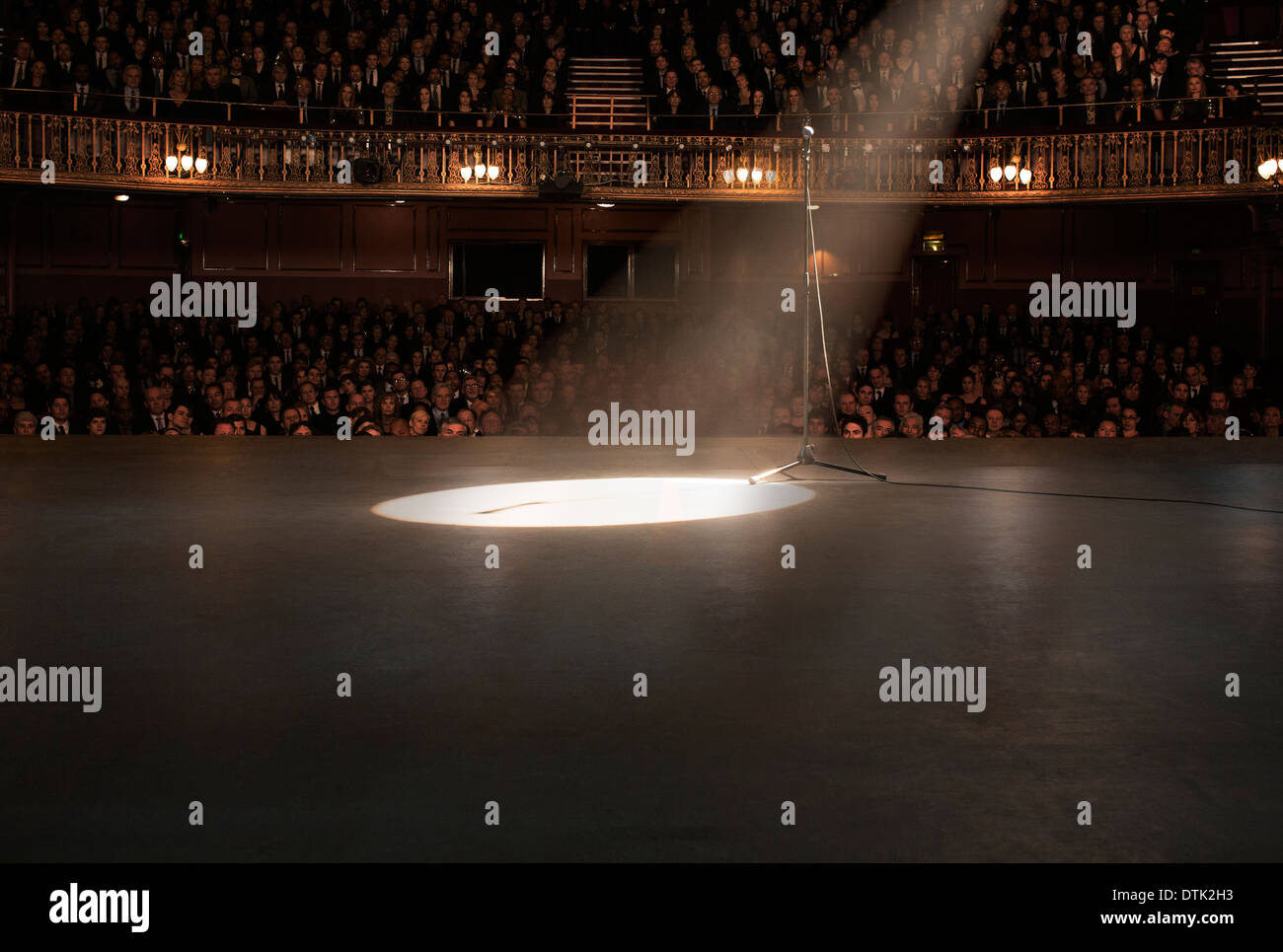 Spotlight shining on stage in theater Stock Photo