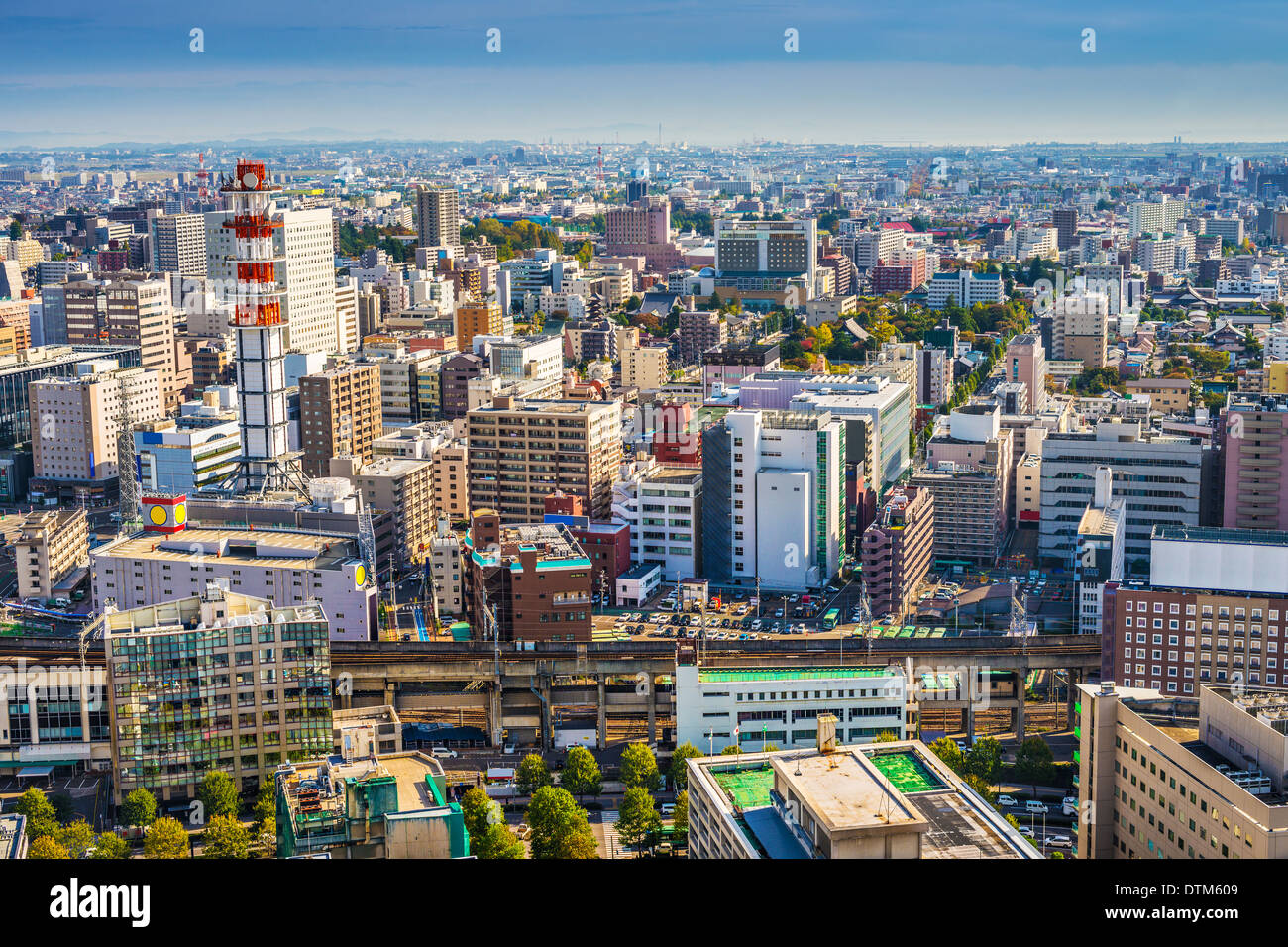 Sendai, Japan cityscape in the Central Ward. - Stock Image