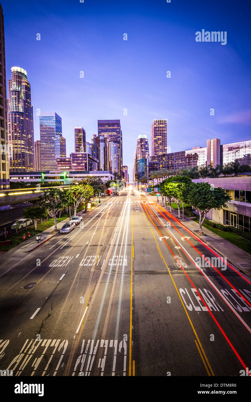 Los Angeles, California, USA downtown cityscape. - Stock Image