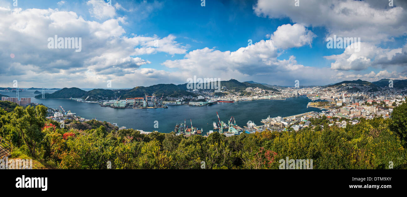 Nagasaki, Japan panorama. - Stock Image