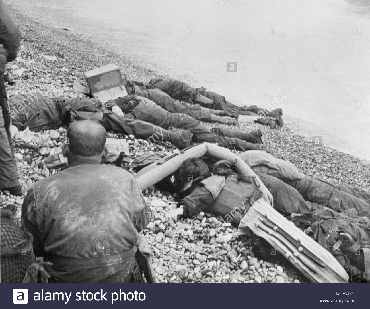 D-day - Allied Forces during the Invasion of Normandy 6 June 1944 EA25734 Stock Photo