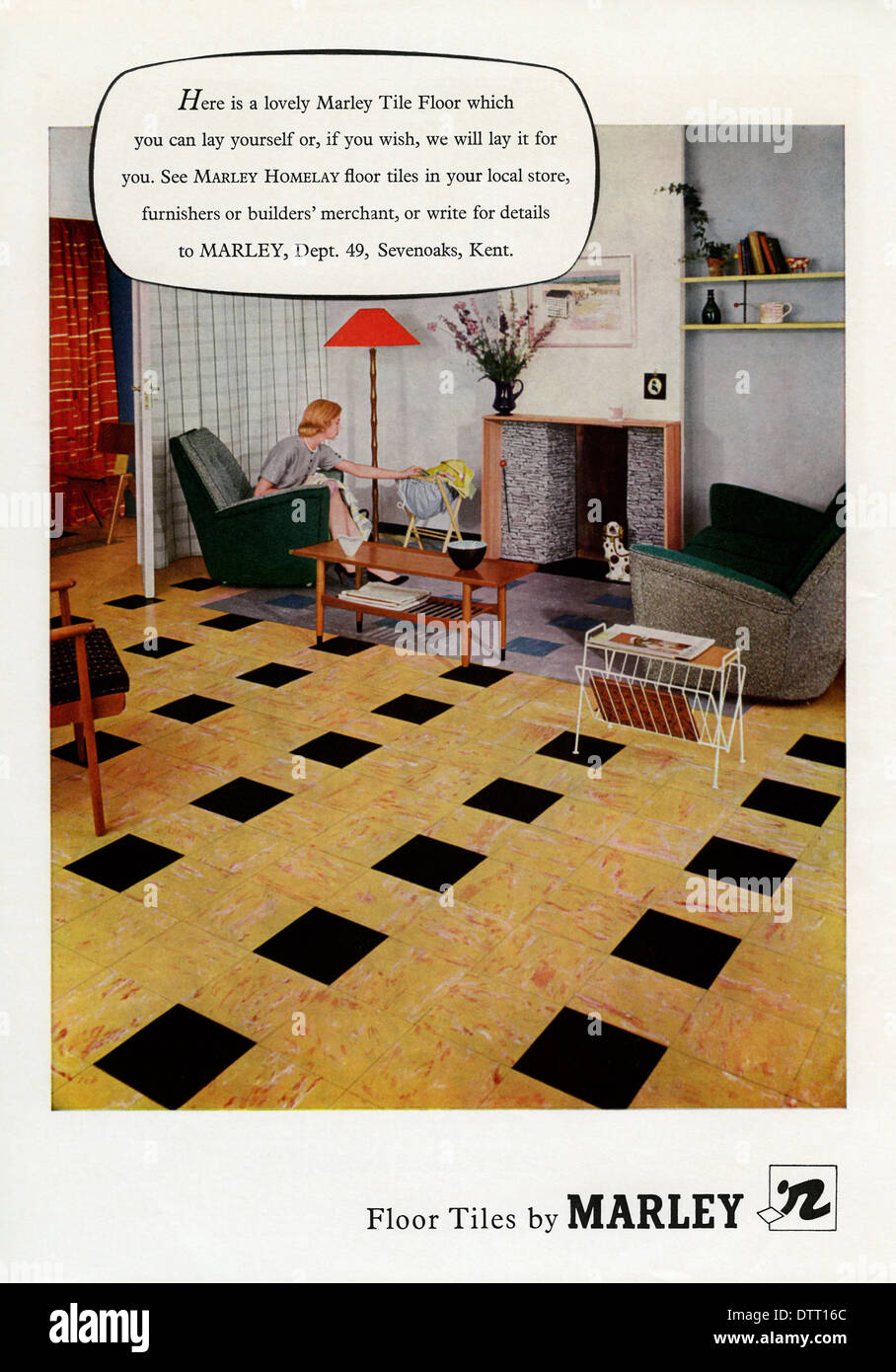 Old advert for marley floor tiles these were hard wearing laminated old advert for marley floor tiles these were hard wearing laminated tiles the advert appeared in a magazine in 1956 dailygadgetfo Choice Image