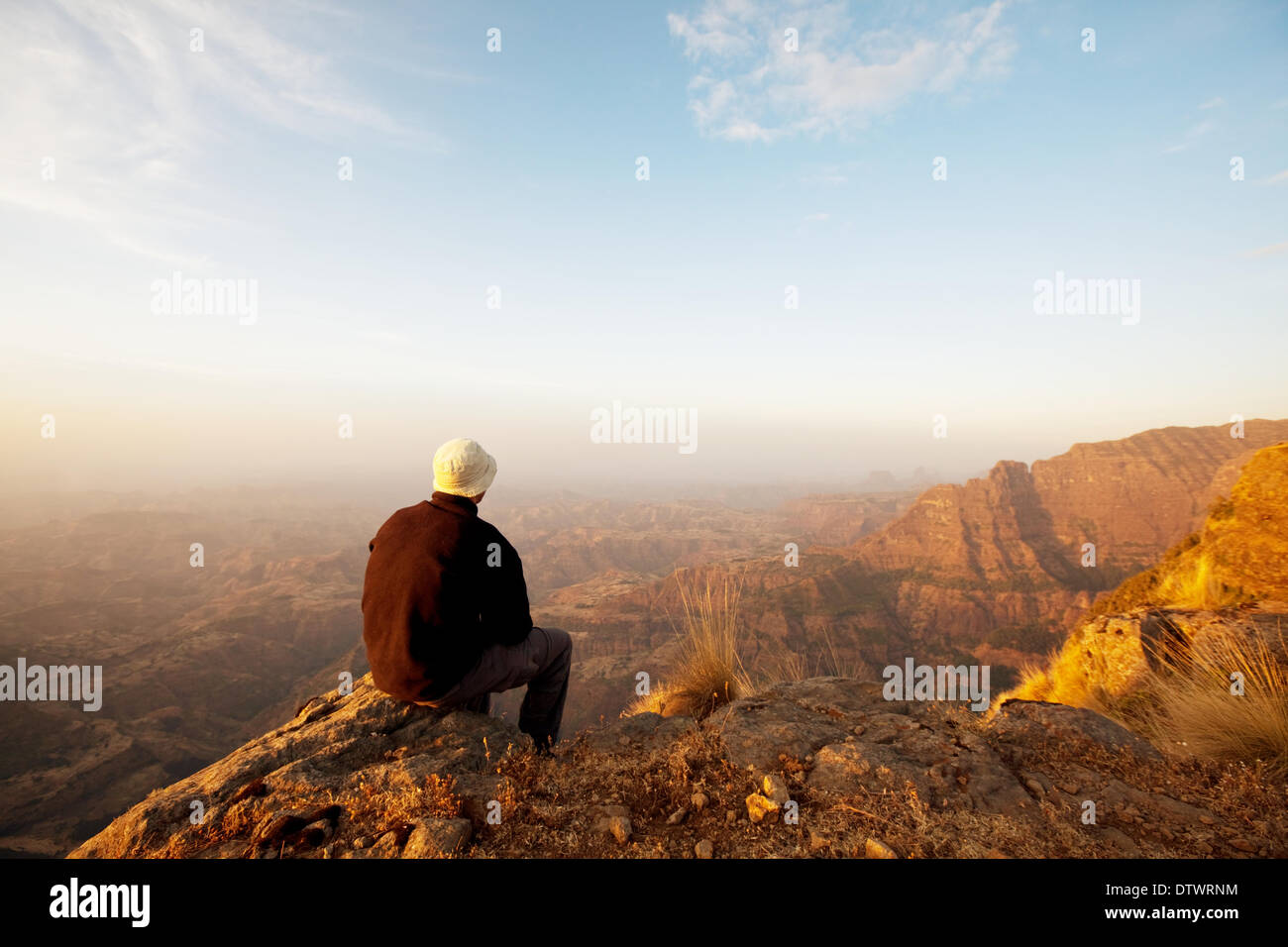 Man in hike - Stock Image