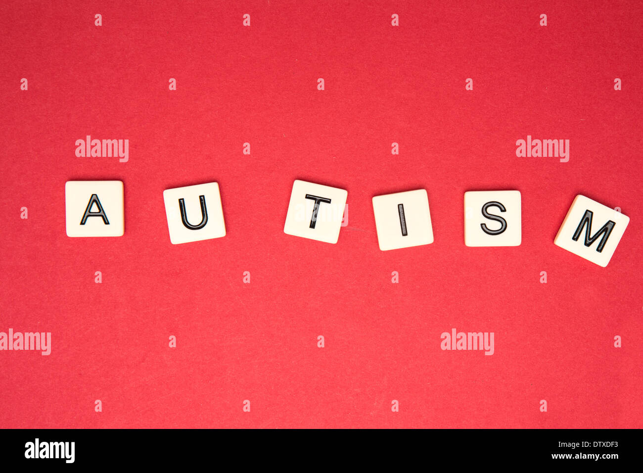Autism spelled out in letter piecesStock Photo