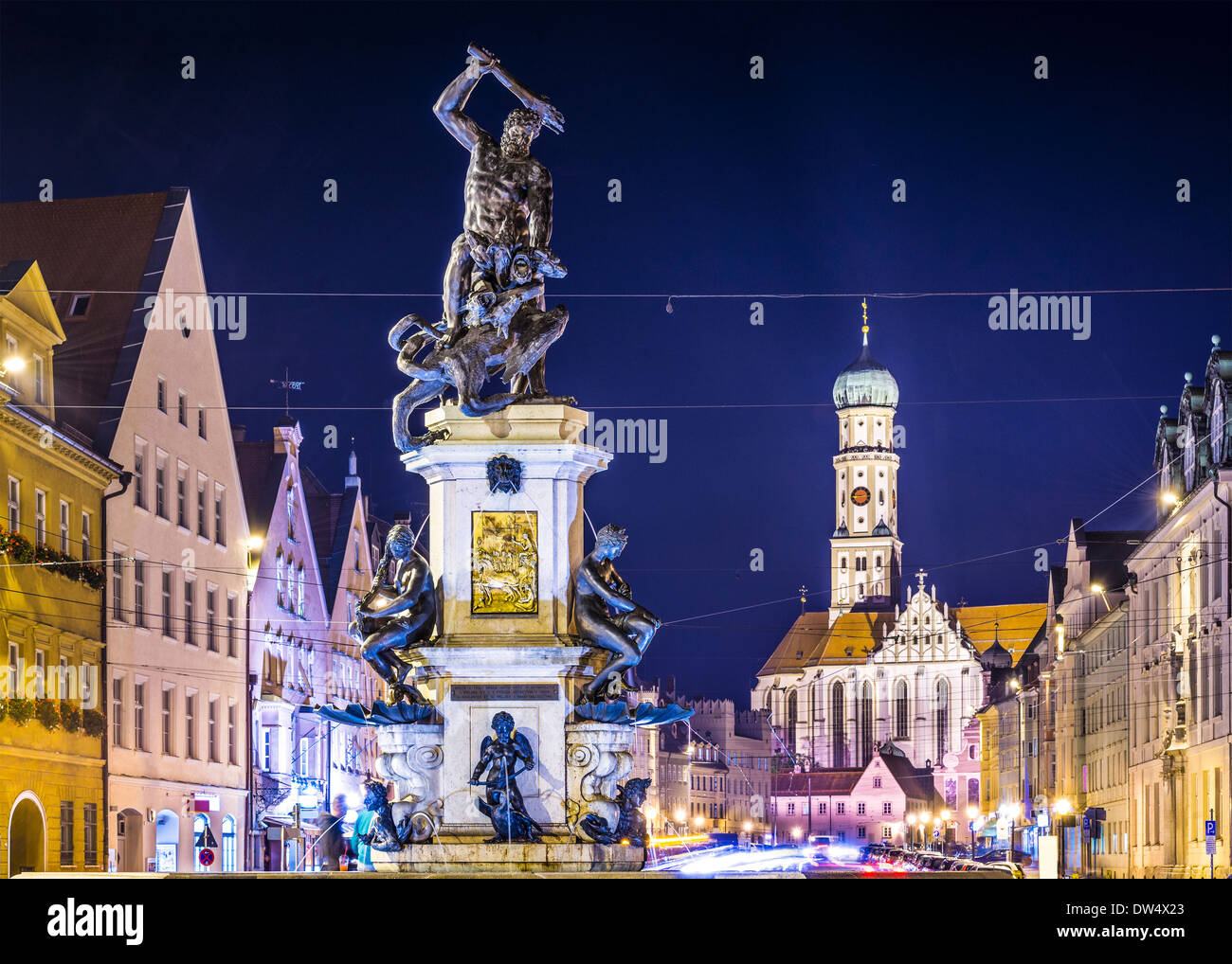 Augsburg, Germany townscape on Maximilianstrasse. - Stock Image