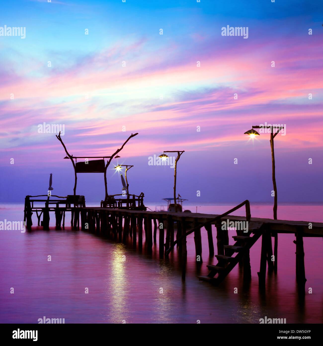 beautiful seascape - Stock Image