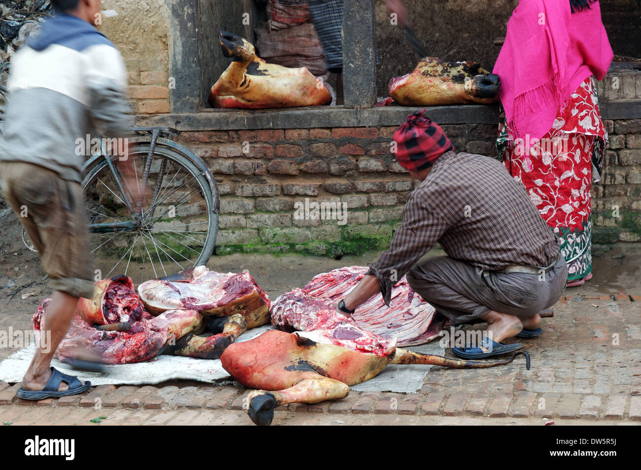 a-butchers-stall-in-a-nepalese-market-DW