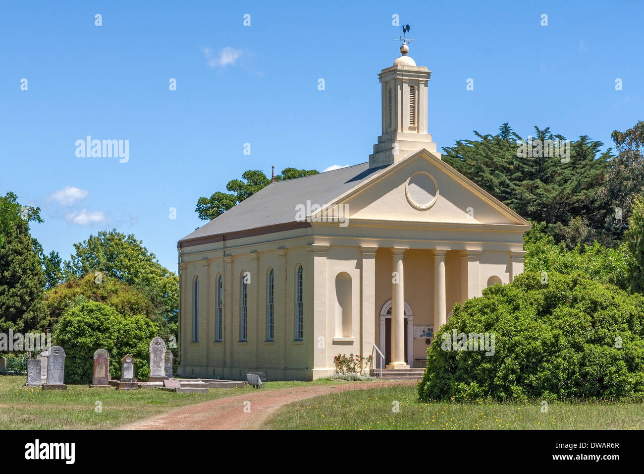 St Andrews Uniting Church Historic Evendale town Tasmania Australia - Stock Image