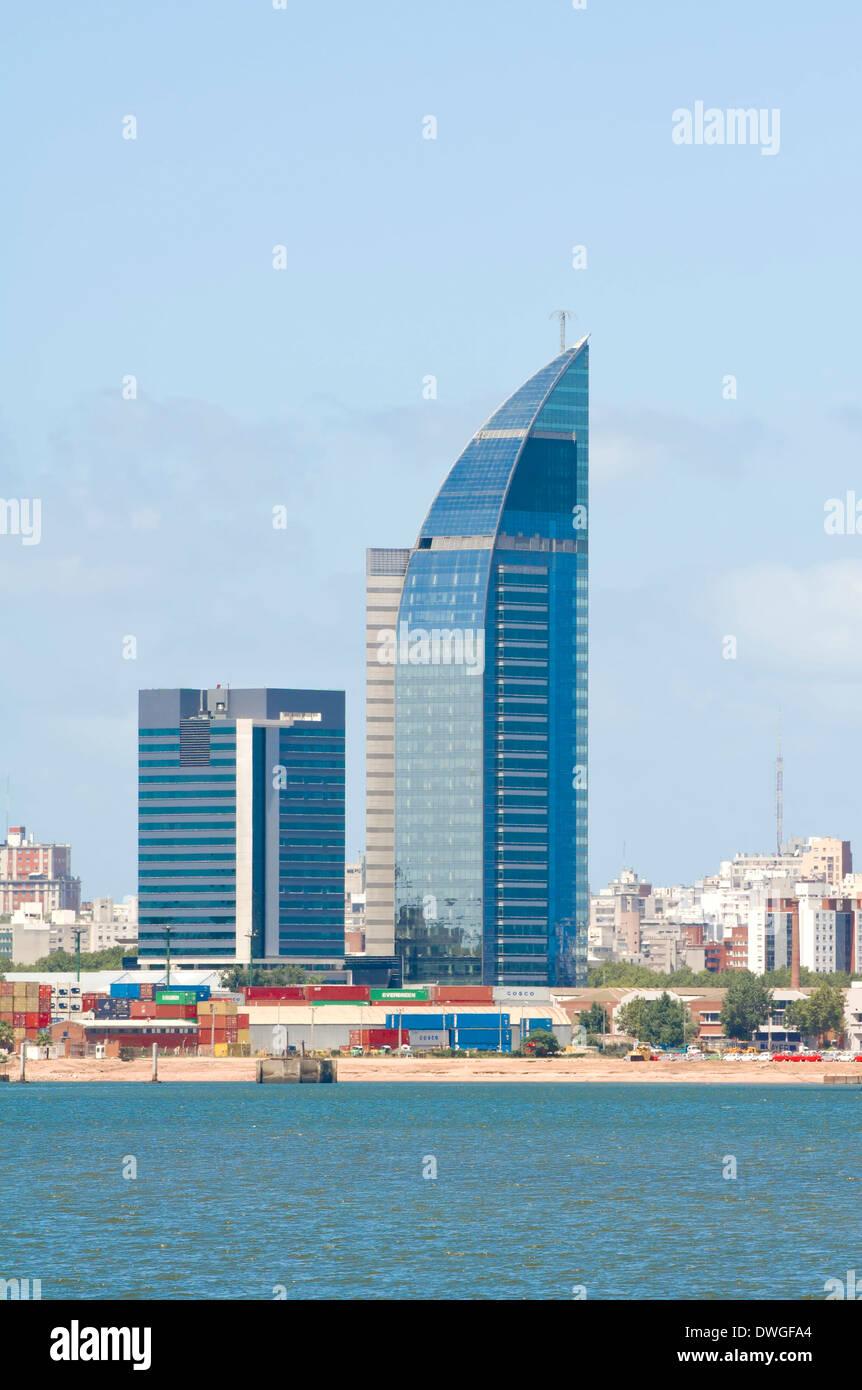 Skyline, Montevideo - Stock Image