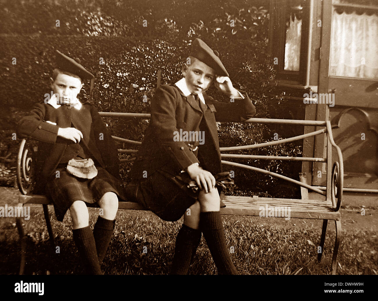 Two sons of King George V - Stock Image