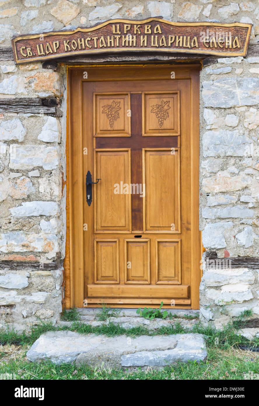 Saints Constantine and Helena church door in Ohrid Macedonia & Saints Constantine and Helena church door in Ohrid Macedonia Stock ...