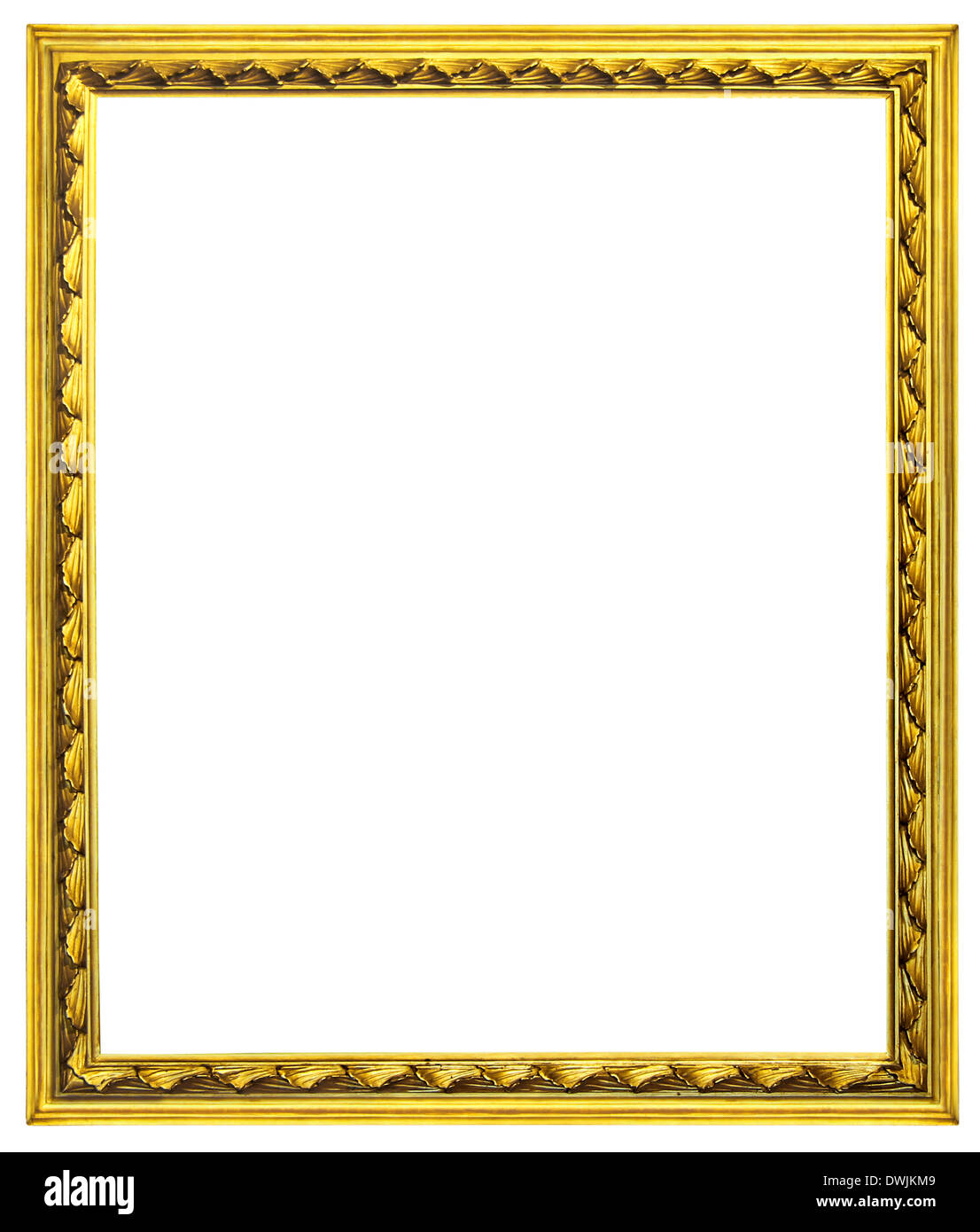 Old gilded wooden frames isolated on white with clipping path Stock ...