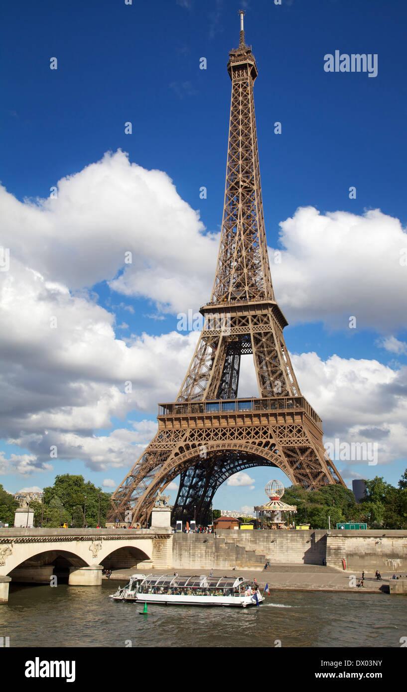 Eiffel Tower, Paris France - Stock Image