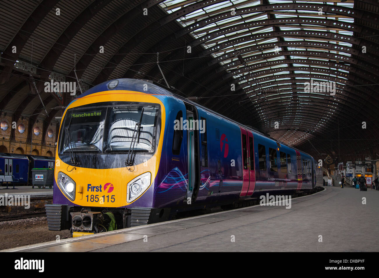 Firstgroup trains TPE; The Class 185 is a diesel multiple-unit passenger train First TransPennine Express, York Stock Photo