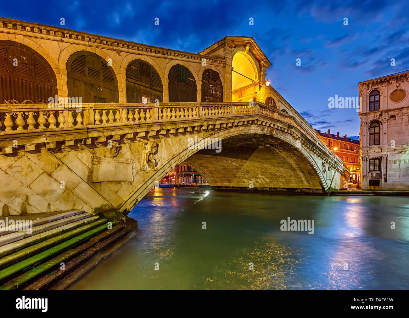 Rialto bridge, Venice - Stock Image