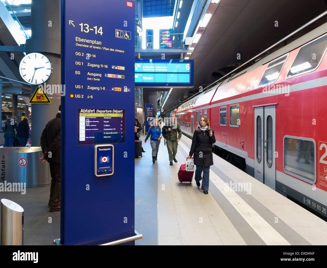 In the Hauptbahnhof train station, Berlin, Germany, Europe - Stock Image