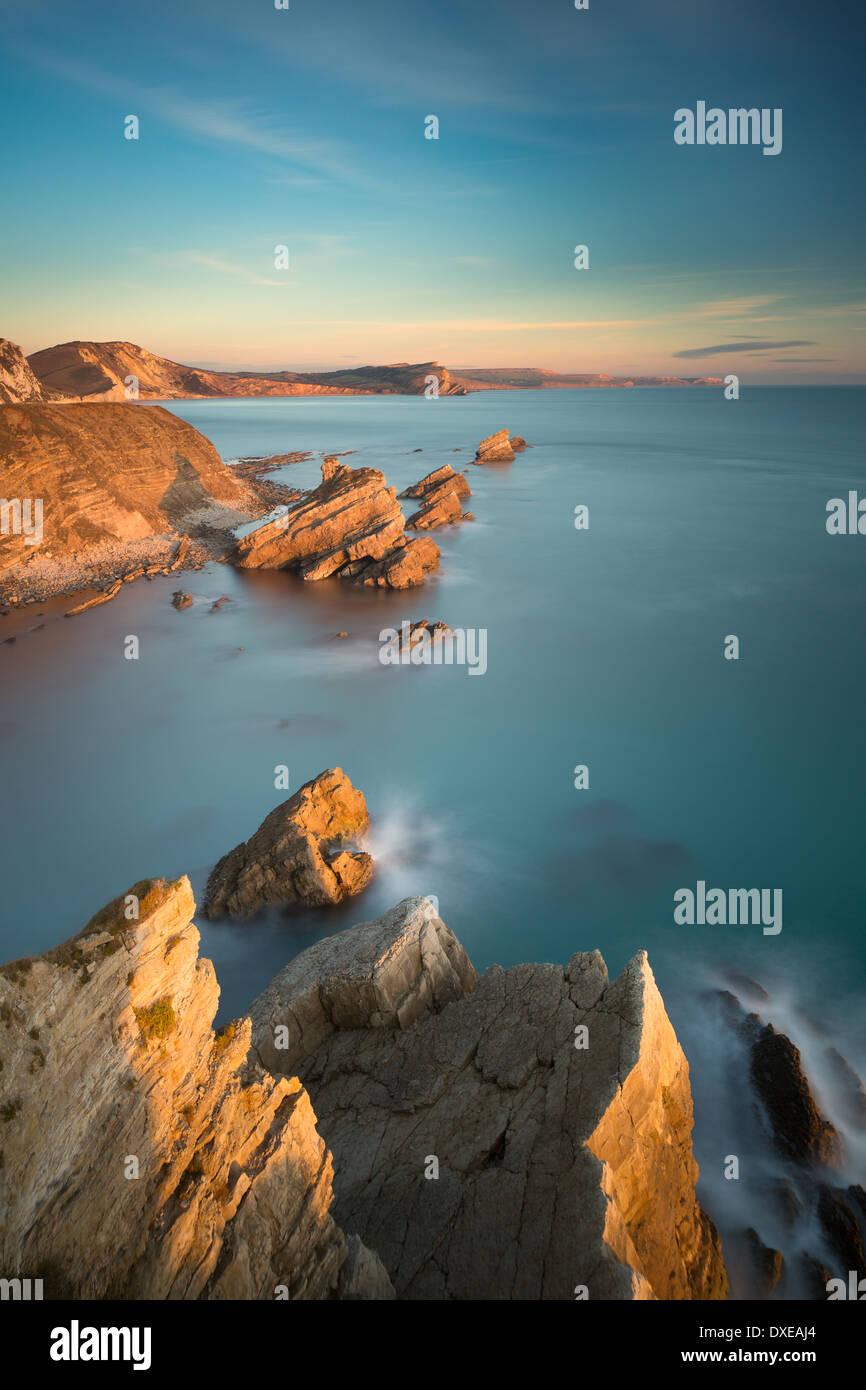 Mupe Bay, Jurassic Coast, Dorset, England, UK - Stock Image