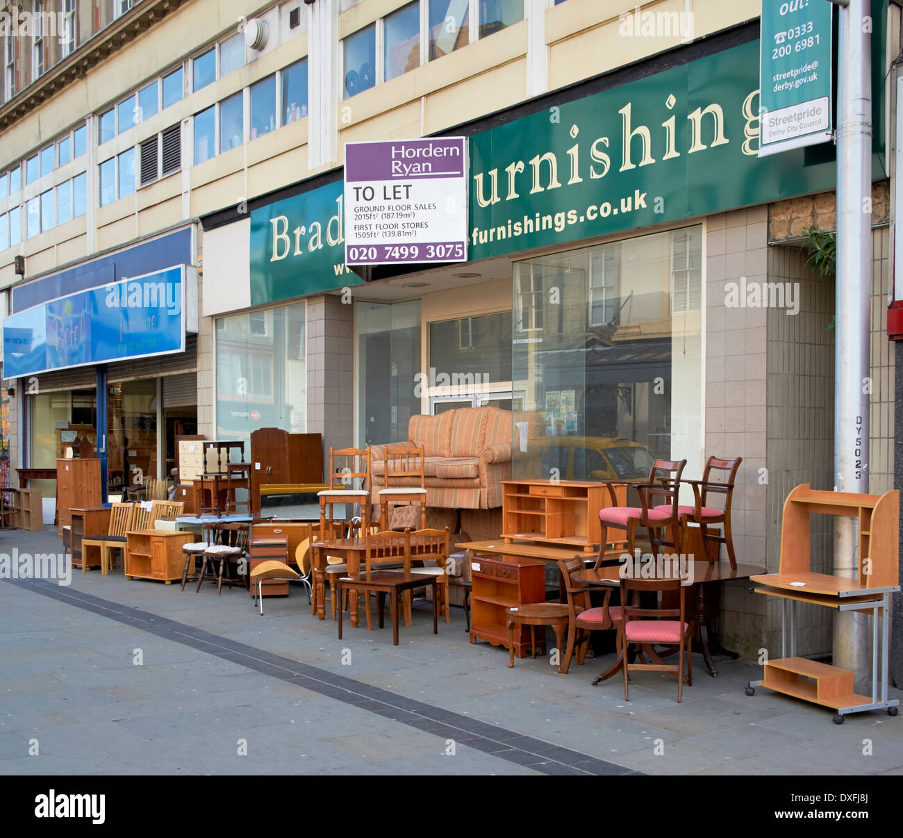 Used Second Hand Furniture On Sale On A UK High Street