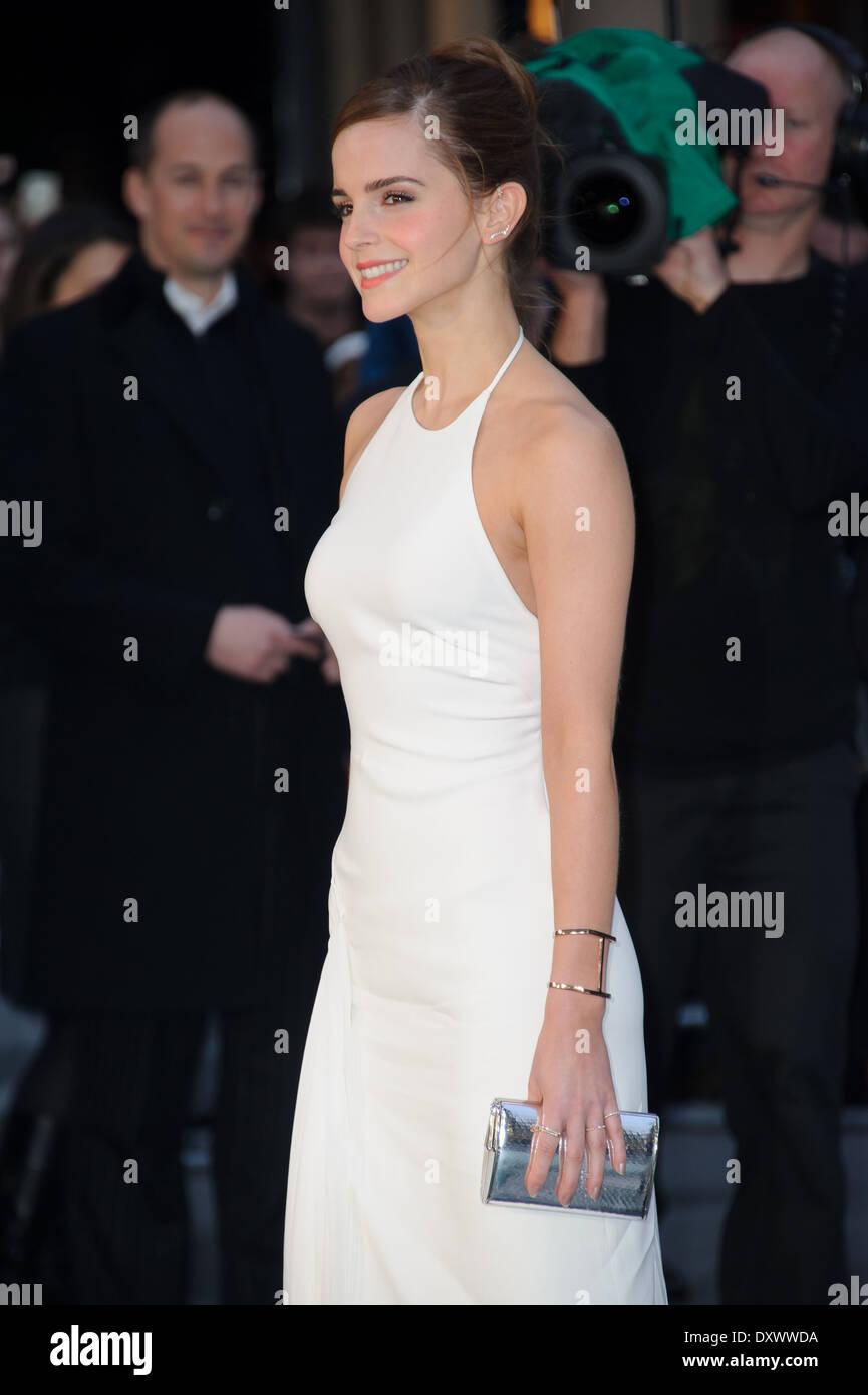 Emma Watson arrives for the UK Premiere of Noah. - Stock Image