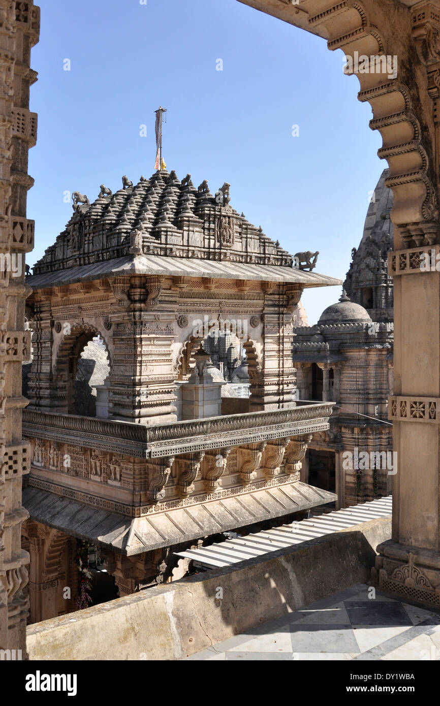 India, Gujarat, Palitana, Jain temple Stock Photo