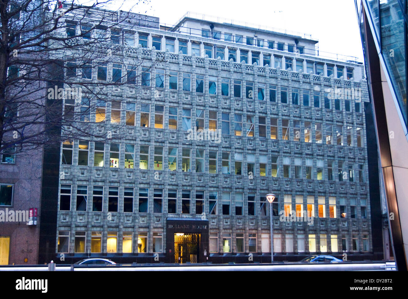 Holland House, by Hendrik Petrus Berlage, 1916, Bury Street, City of London, England, UK Stock Photo