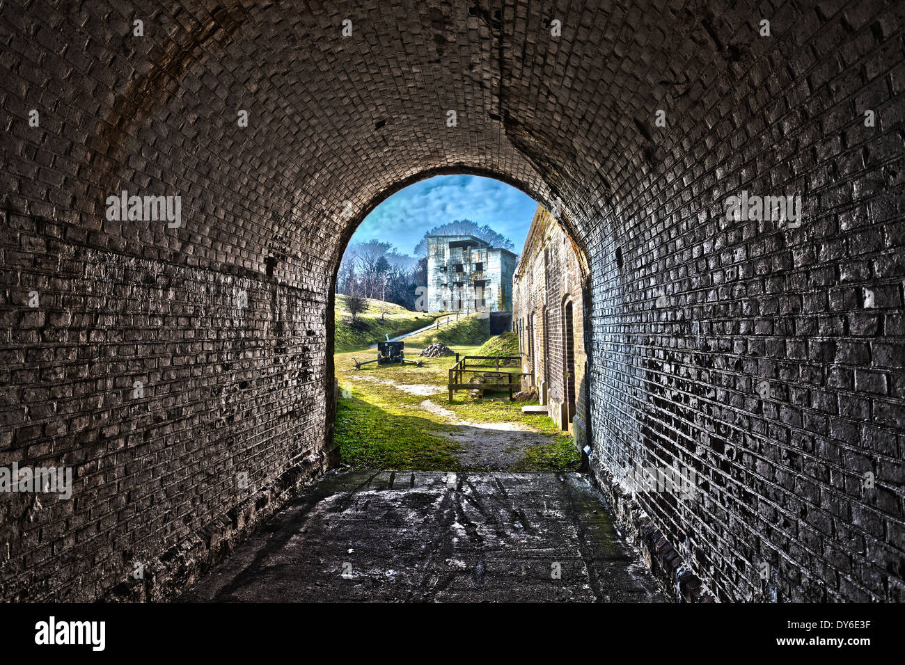 Western Fort in Swinoujscie, Poland, HDR processing. - Stock Image