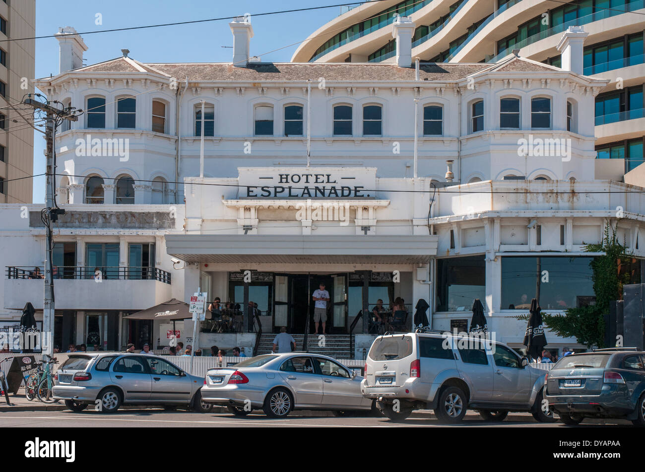 'The Espy' (Esplanade Hotel) a popular live music venue on the St Kilda Esplanade, Melbourne Stock Photo