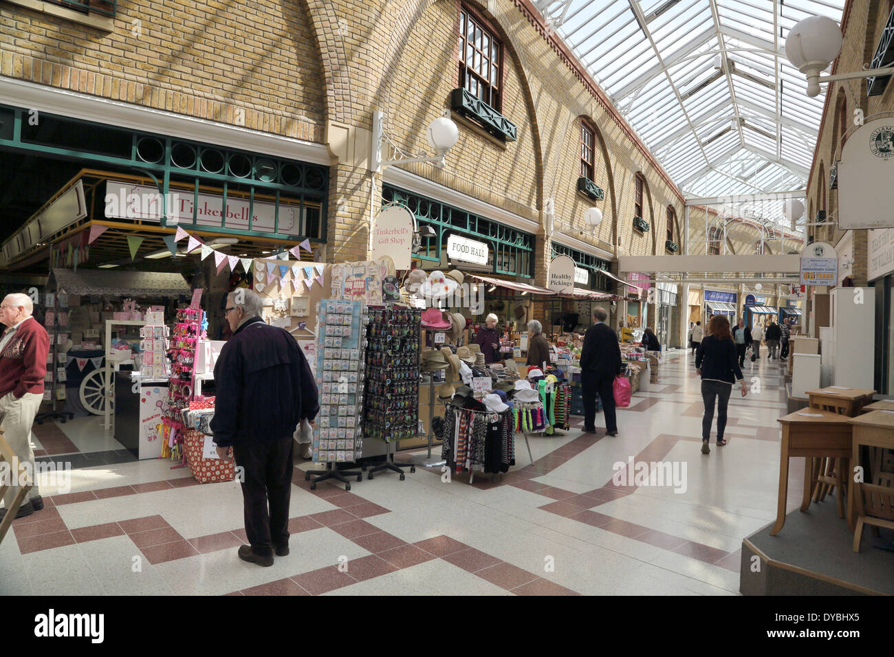 the inside shopping market, The Martlets, in Burgess Hill Stock Photo