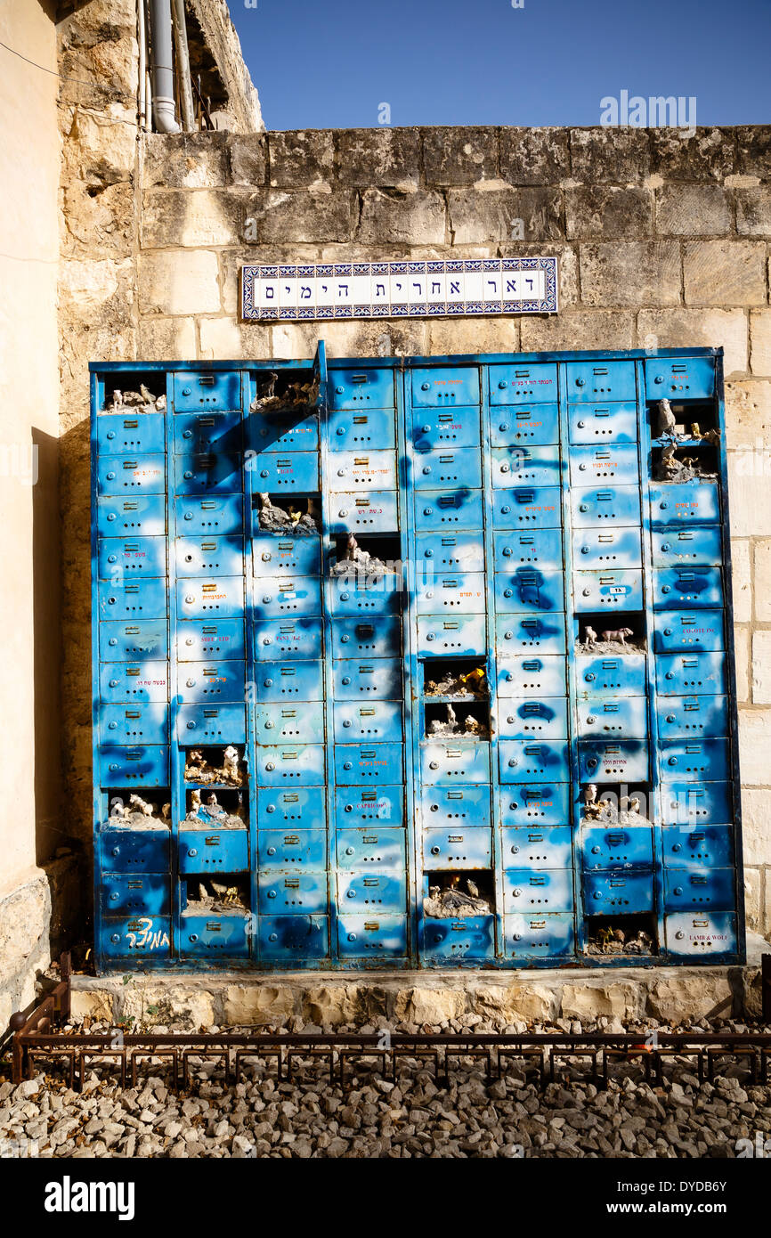 The post boxes artists village of Ein Hod, Carmel mountains, Israel - Stock Image