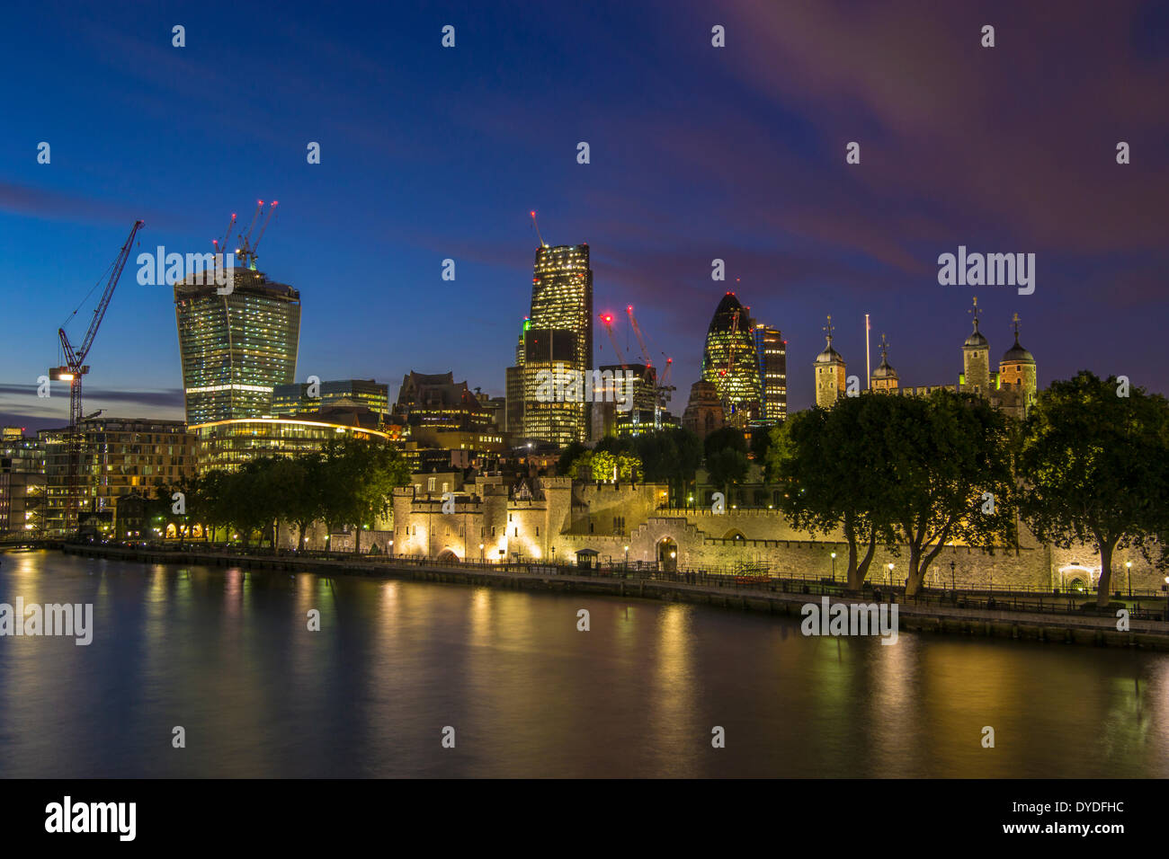 A view of London skyline from Tower Bridge. - Stock Image