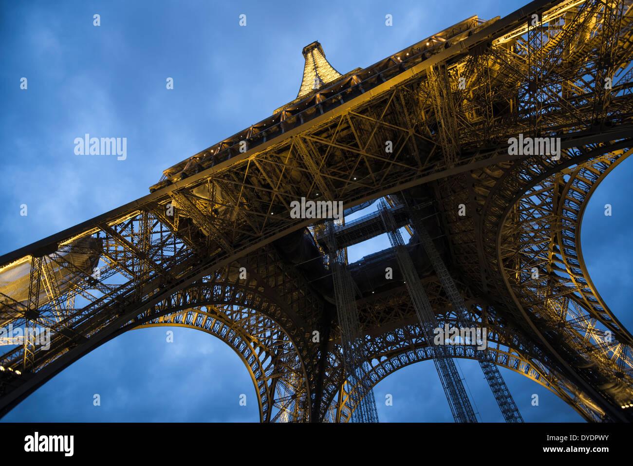 Under the Eiffel Tower, Paris - Stock Image