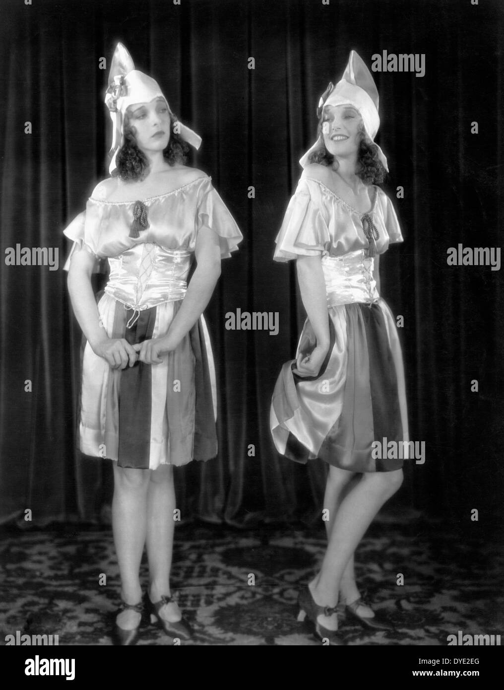 Sally Blane, Loretta Young, on-set of the Film, 'The Show of Shows', 1929 - Stock Image