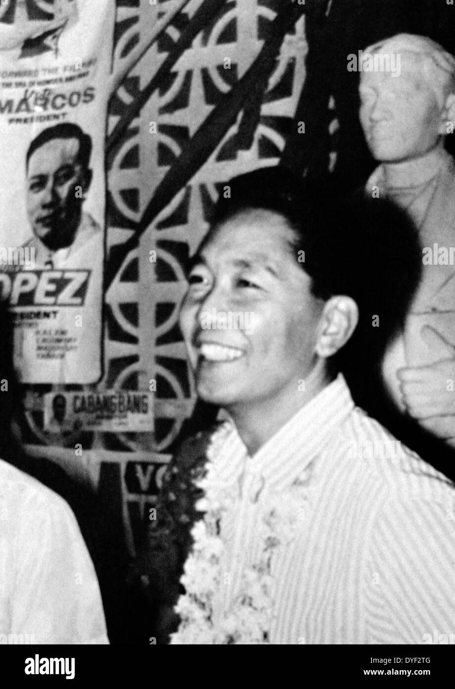 Ferdinand Marcos, President of the Philippines - Stock Image