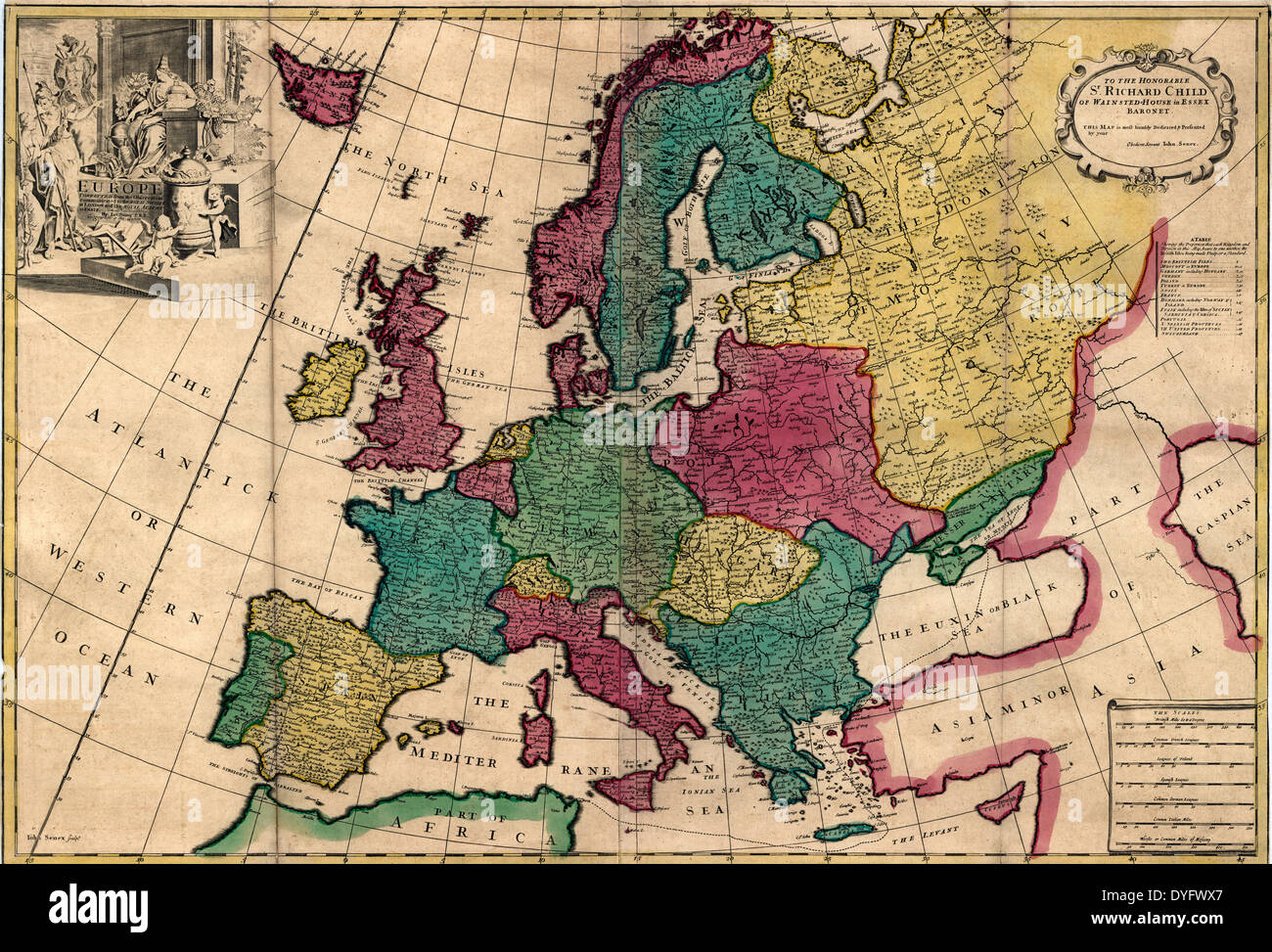 Map of Europe 1740