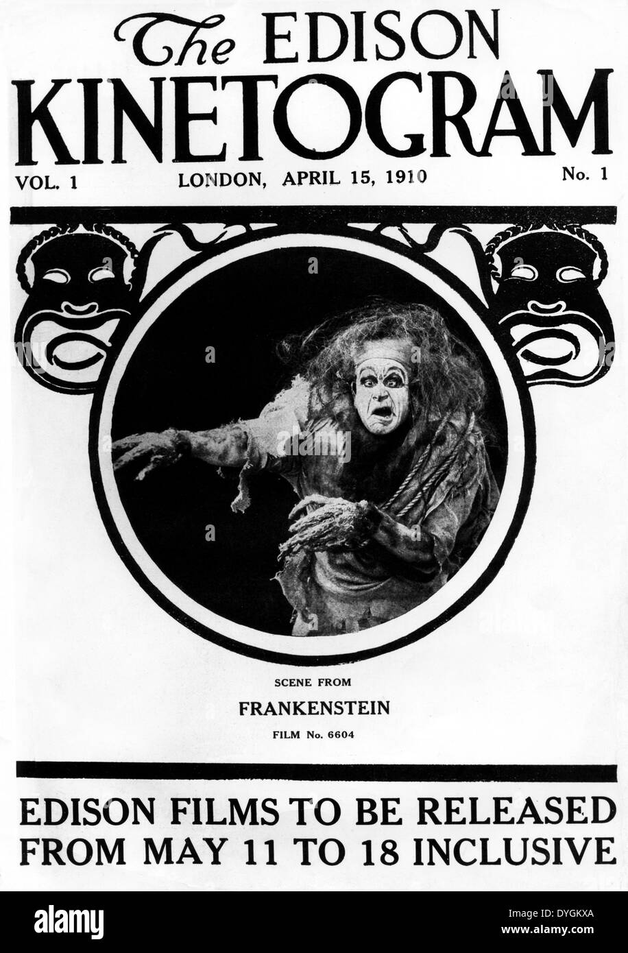 FRANKENSTEIN (1910) J SEARLE DAWLEY (DIR) ANKE 001 MOVIESTORE COLLECTION LTD Stock Photo