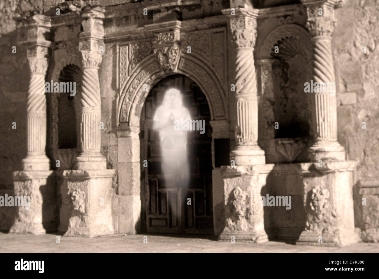 Ghost At The Front Door Of The Alamo