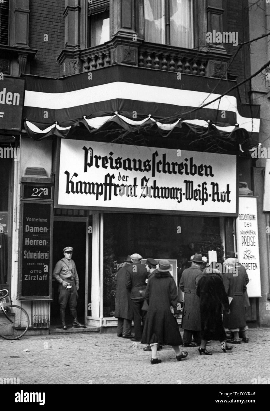 German Nationalist contest, 1933 - Stock Image