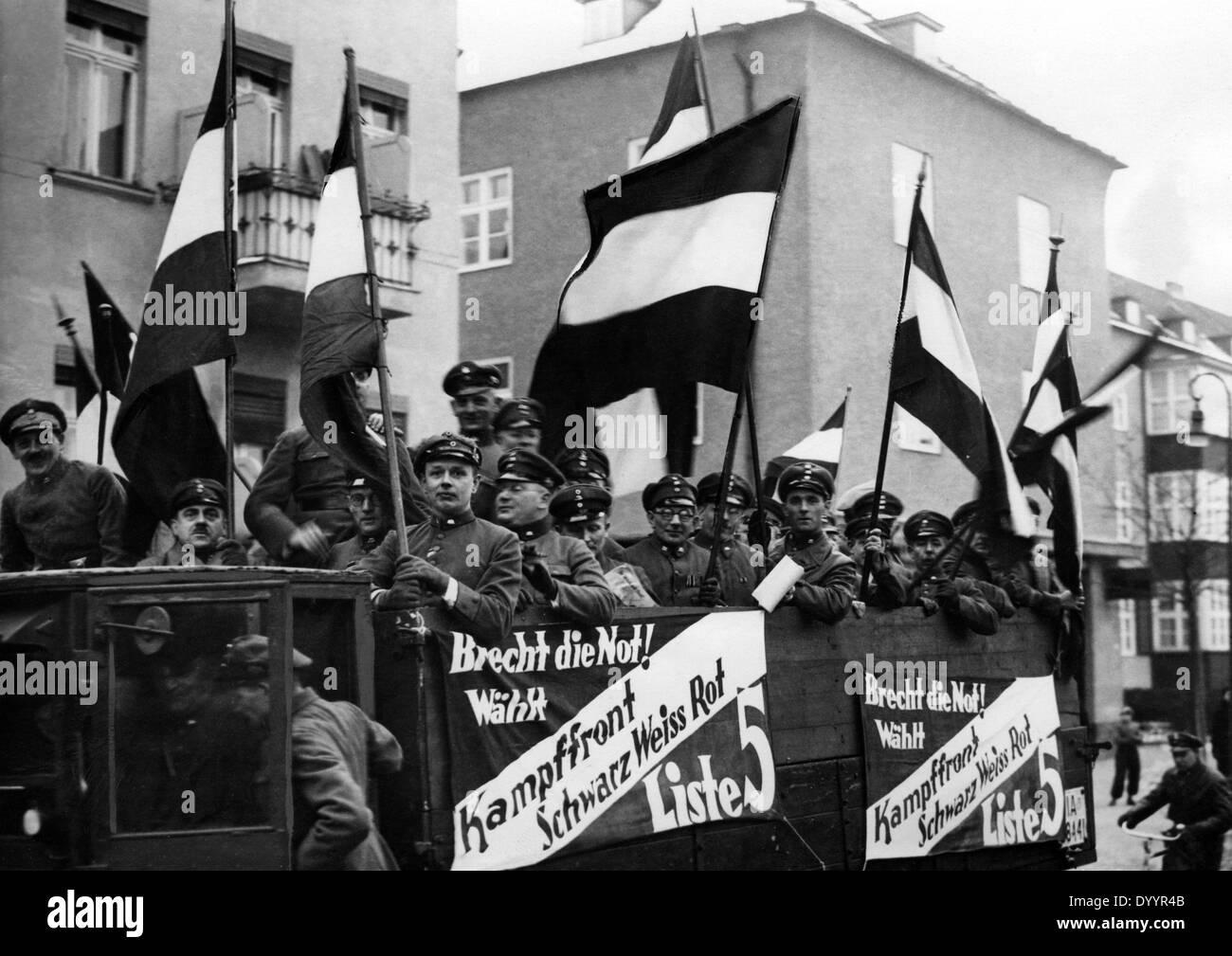 Propaganda vehicle of the Battlefront Black-White-Red, 1933 - Stock Image