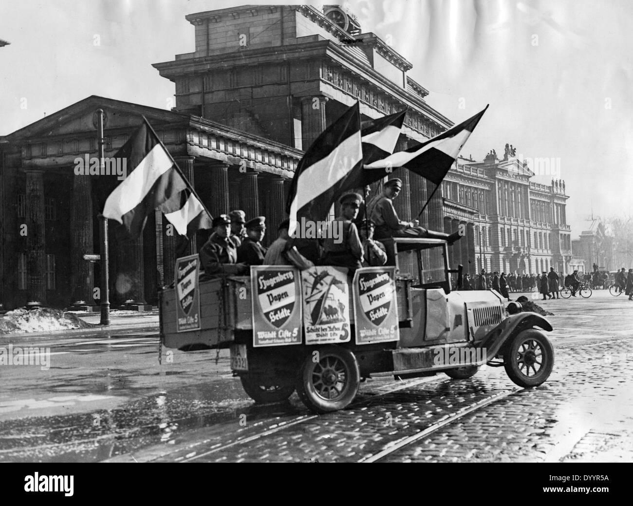 German Nationalist propaganda vehicle, 1933 - Stock Image