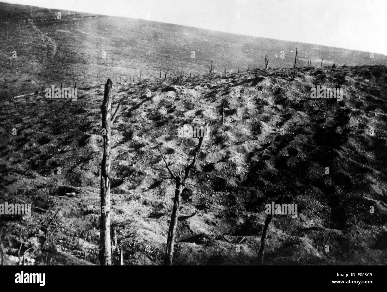 Former battleground near Fort Douaumont, 1927 - Stock Image
