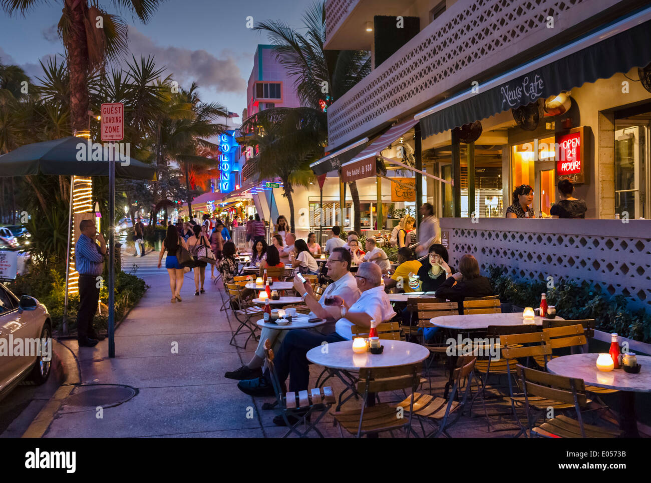 News Cafe Ocean Drive Miami Beach Fl