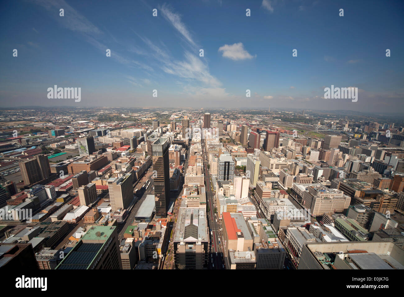 View of central Johannesburg and CBD from Carlton Center Johannesburg, Gauteng, South Africa, Africa - Stock Image