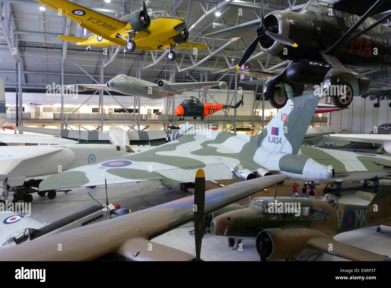 Aircraft on display at Duxford Imperial War Museum in Cambridgeshire, UK - Stock Image