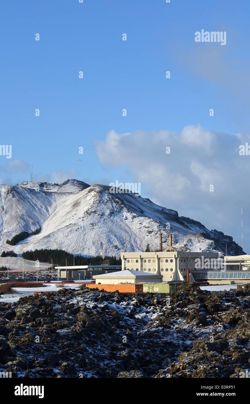 Svartsengi geothermal electrical power station near Grindavik, Iceland. - Stock Image