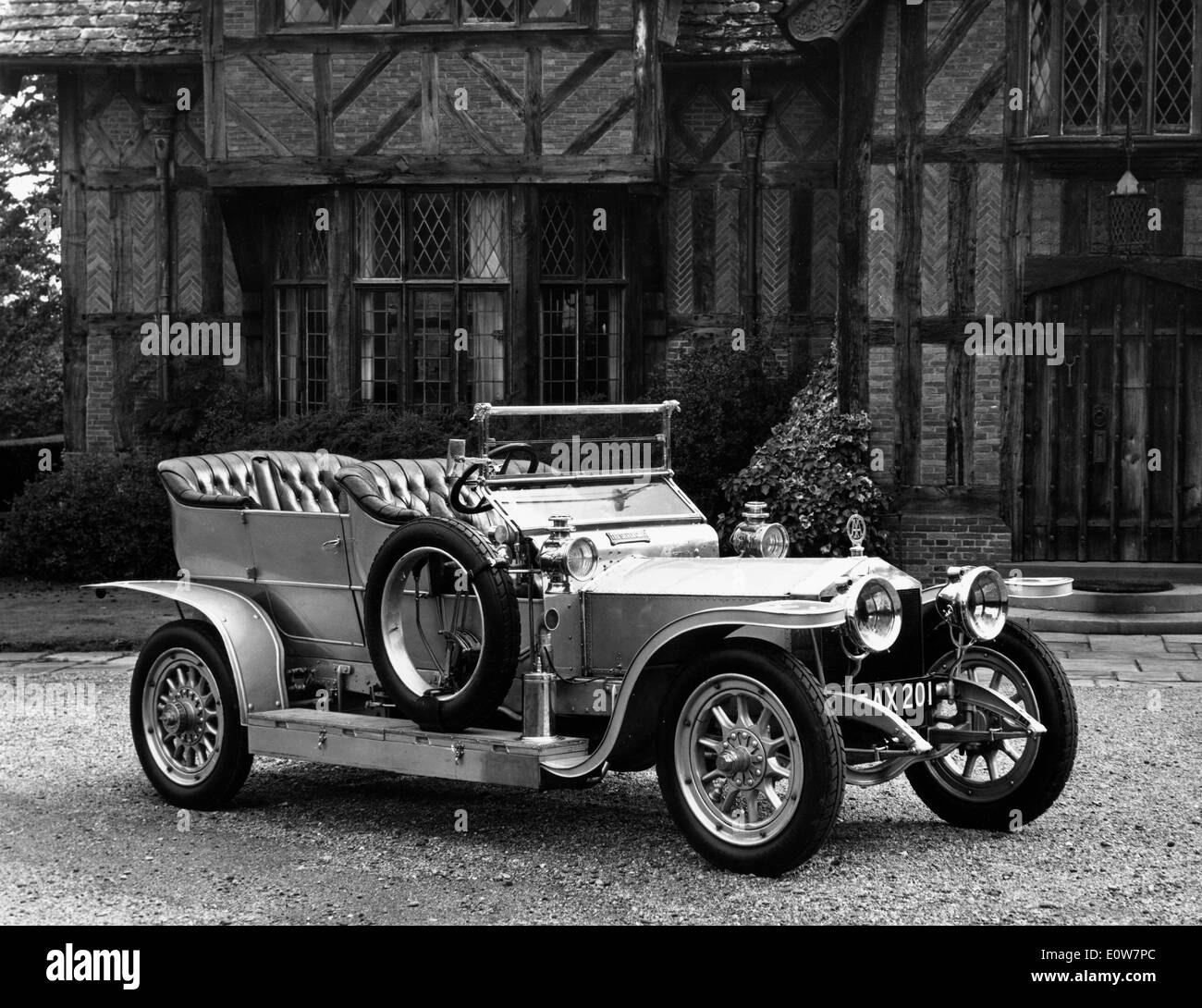 Anniversary of 1906 Rolls-Royce Silver Ghost Stock Photo