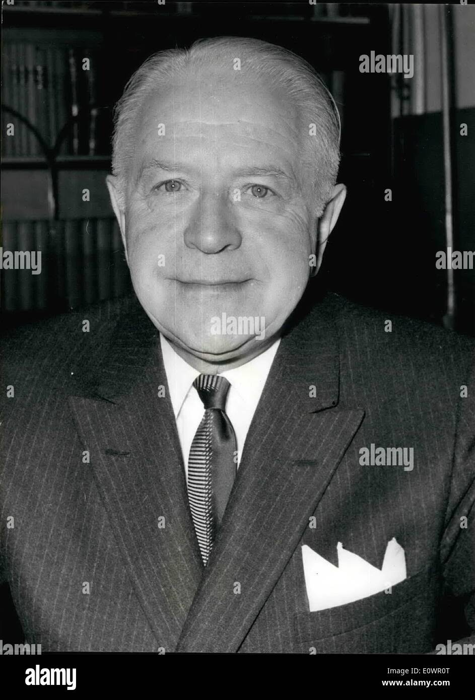 Feb. 02, 1964 - New High Commissioner for Canada.: The Honourable Lionel Chevrier, the new High Commissioner for - Stock Image