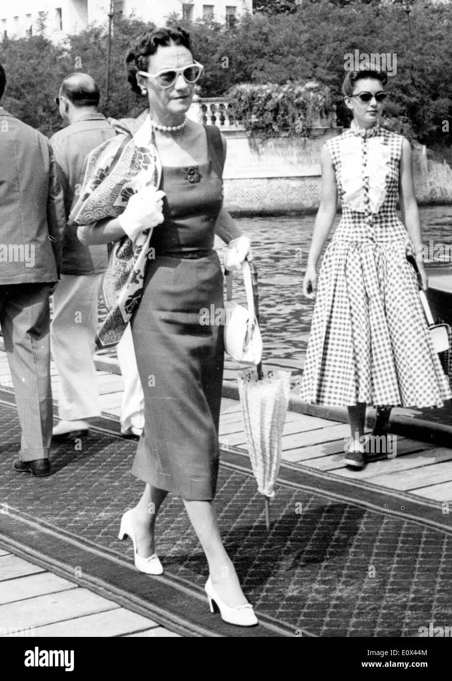 Socialite Wallis Simpson On Vacation In Venice Stock Photo