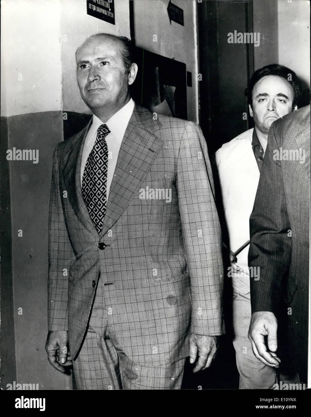 Sep. 09, 1974 - Ioannides flees Athens Mob: Former strongman of the Greek junta, Brig. Dimitrios Ioannides, had - Stock Image